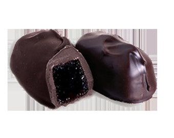 Dark Chocolate Covered Raspberry Jellies