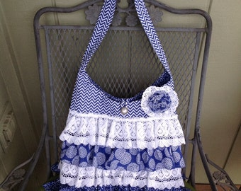 Ruffles and Lace Hand Bag
