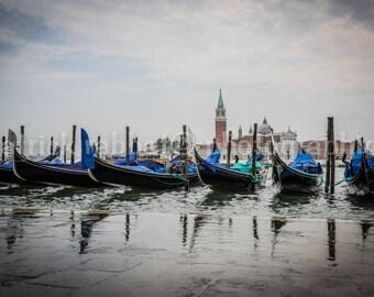 Romantic Venezia Italia Gondolas Photo Saint Marc Place Photo Fine Art Photography European Old World Charm Romantic Venice Italy Home Decor