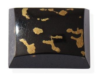 Black Goldenite Quartz Baguette Cabochon Loose Gemstone 1A Quality 10x8mm TGW 3.00 cts.
