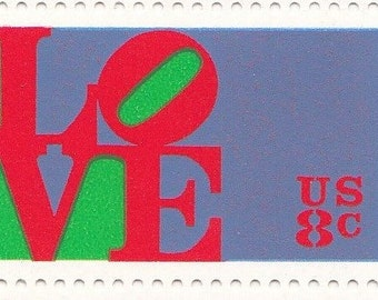 Qty of 10 Love 8 cent 1973 Vintage postage stamps. These stamp are in excellent unused condition.