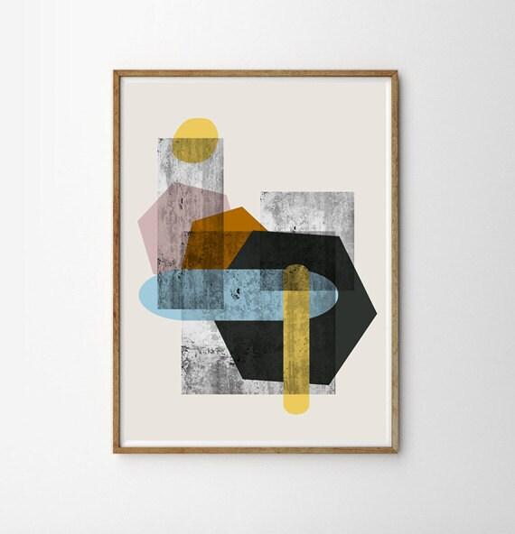 wall art giclee art mid century modern art retro poster. Black Bedroom Furniture Sets. Home Design Ideas