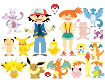 Pokemon Go - Clipart & Vector Set - Instant Download - Personal and Commercial Use