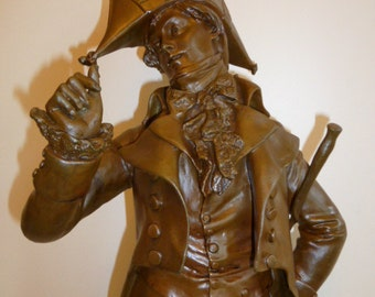 Large antique French bronze of Robespierre signed L0RMIER, circa 1890