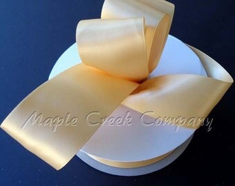 3/8 inch x 100 yards of Toffee Double Face Satin Ribbon