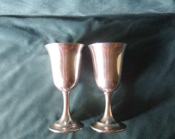 2 Sterling Goblets