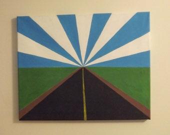 "Acrylic painting of prairies - 20""x16"""