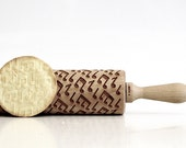Music notes !  Embossing rolling pin, laser engraved rolling pin