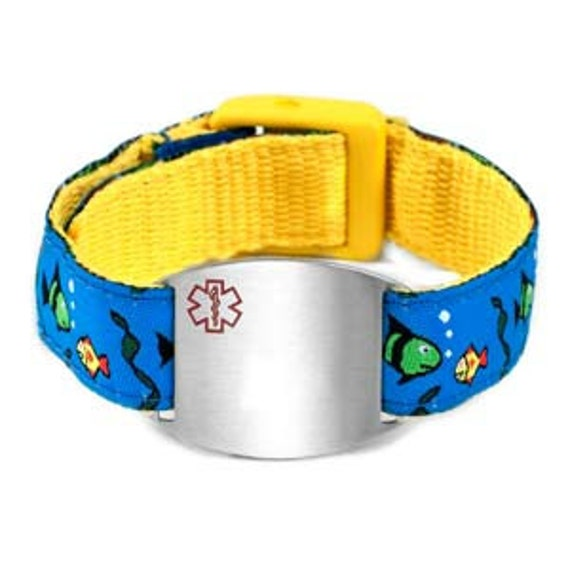 kid allergy bracelet boys id bracelet id bracelet allergy bracelet 9425