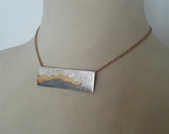 KUM BOO Choker of sterling silver and gold 18 kts