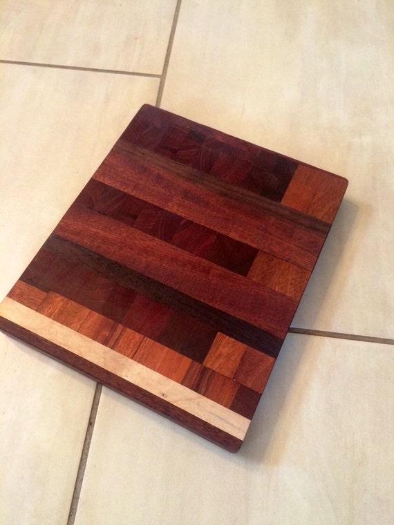 premium end grain mahogany butcher block by hfcustomwoodworks