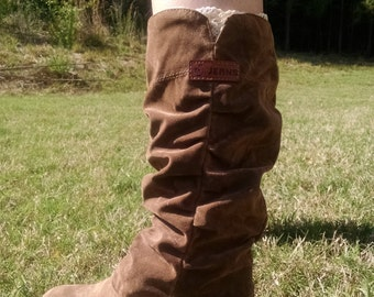 Women's Suede Brown Boots Size 7