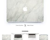 Marble Laptop Decal Macbook Skin Macbook decal Macbook vinyl Macbook pro skin macbook air skin brushed white marble skin marble macbook