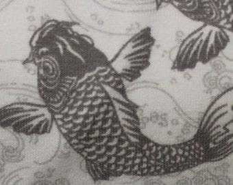 Koi in Grey KNIT by Stenzo Textiles, Premium Euro Cotton - Spandex Jersey Knit, Netherlands 5523