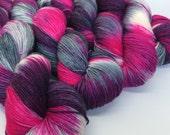 Hand dyed merino nylon sock yarn - Aboard the Starship