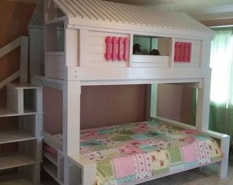 Western Saloon Loft Bed Playhouse