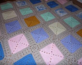 Crochet Criss-Cross Blanket