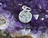 Compass Charm, Compass Pendant, Sterling Silver Charm, Silver Compass, Necklace Charm, Nautical Charm, Nautical Pendant, SMALL