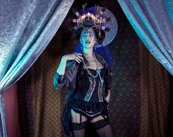 Black cosmic rocknroll corset