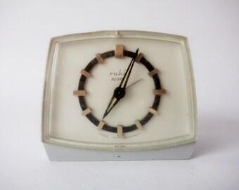 Vintage 1970's Ruhla ANKER Alarm Clock, Made in Germany, Old Mechanical alarm Clock, Retro Desk Clock, Working Alarm Clock
