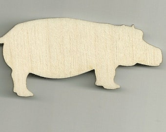 Hippo, hippopotamus, Craft, Africa Wild Life, Cutouts, Baby Mobile Wood, Unfinished, DIY, You Decorate, Scrap Book Items, Decorations