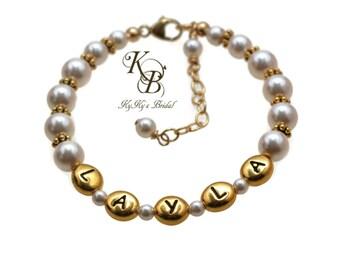 Personalized Flower Girl Bracelet, Flower Girl Bracelet Gold, Personalized Flower Girl Gift, Flower Girl Jewelry, Personalized Bracelet