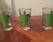 Sorority Shot Glass, Shot Glass, Greek Lettering, Party Glass, Turtle Shot Glass