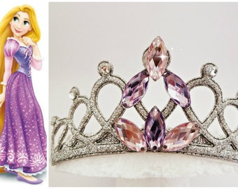 Rapunzel Purple Tiara, Rapunzel Crown, Tangled Crown ,Tangled Tiara ,Toddler Headband,Rapunzel Birthday Crown, Tiara Jeweled With Stones
