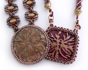 Stamped Focal Pendant Bead Pattern by Cathy Helmers