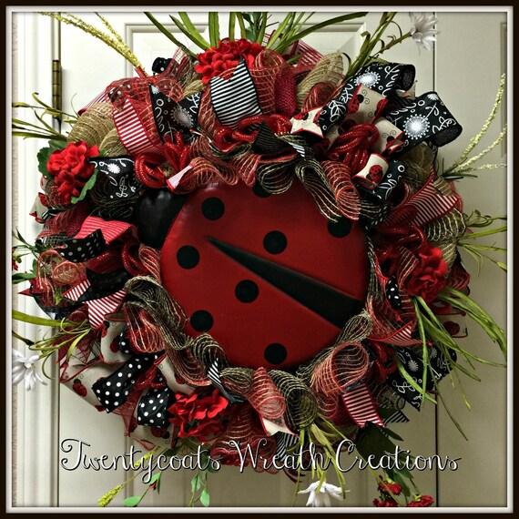Lady bug, Lady Bug Fly Away Home!  Lady Bug Wreath