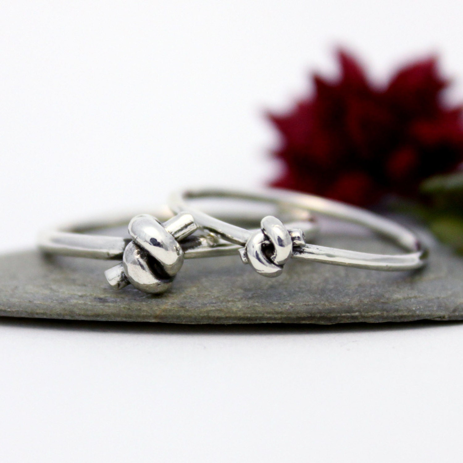 Knot Couple Ring Set His & Hers Promise Rings Couple Ring