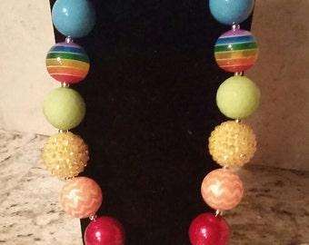 Free Shipping. My little pony bubblegum necklace, rainbow dash bubblegum necklace, rainbow dash necklace