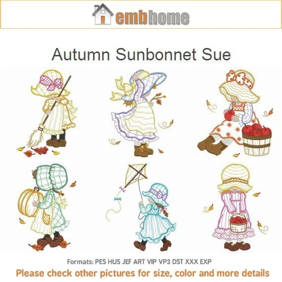 sunbonnet sue machine embroidery