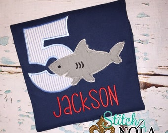 Raggy Shark Birthday Shirt