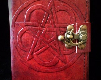 Pentacle leather bound book of shadows/journal