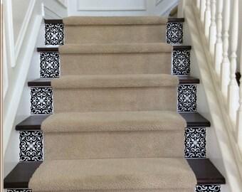 Decoratieve stof strepen tikkende vinyl trap riser decals