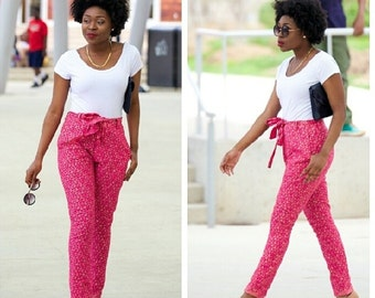 Pink Shimmery Pants