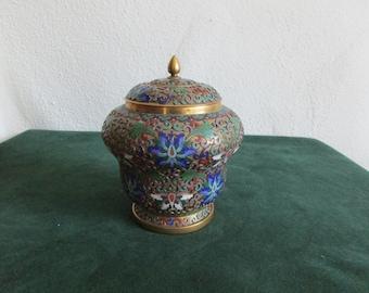 Chinese Cloisonne Openwork Lidded Jar