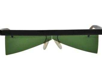 Maske Unisex único raro mi gafas de sol verde Irregular los 90 Alemania