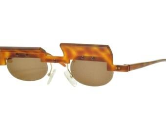 Nuevo Unisex Maske Jota borde de mitad del decenio de 1990 excéntrica defensa gafas de sol alemán hecho a mano