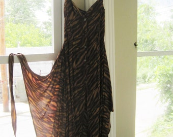 90s Boho Wrap Around Maxi Dress