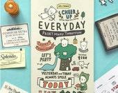 Pony Brown Diary 2016 CREAM Undated Planner Journal Scheduler Agenda  Korean Cute Kawaii Notebook Scrapbook Schedule Book