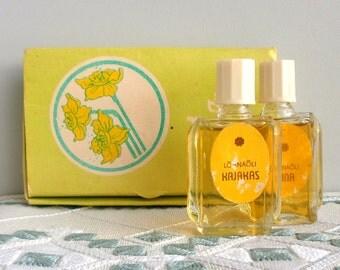 Vintage rare USSR perfume in original box TRIO, unused Soviet Union era 2 pc Perfume Cologne  1970s