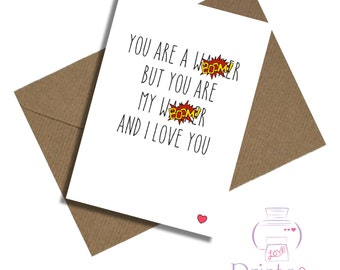 Funny boyfriend husband wife girlfriend card birthday