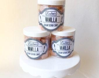 SALE***Vanilla Sugar Scrub Cubes. 8 ounce jar