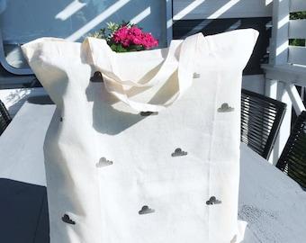 Canvas bag, cloud, shopping bag