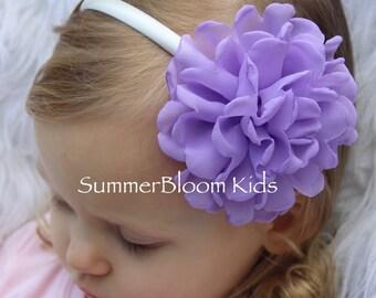 Lavender headbands, flower headbands, toddler headband, lavender kids hair accessories, headbands for girls, purple headbands girls