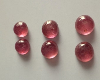 Gorgeous Ruby smooth cabochon 6-7 mm 2 pieces