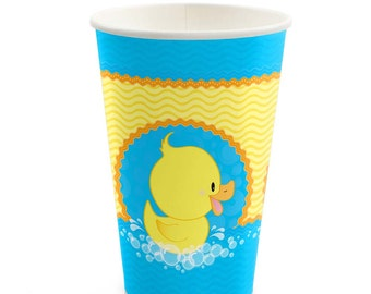 8 Count - Ducky Duck - Hot/Cold Cups - Baby Shower or Birthday Party Supplies