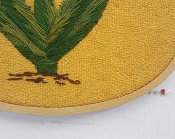 Aloe Vera Embroidery Hoop
